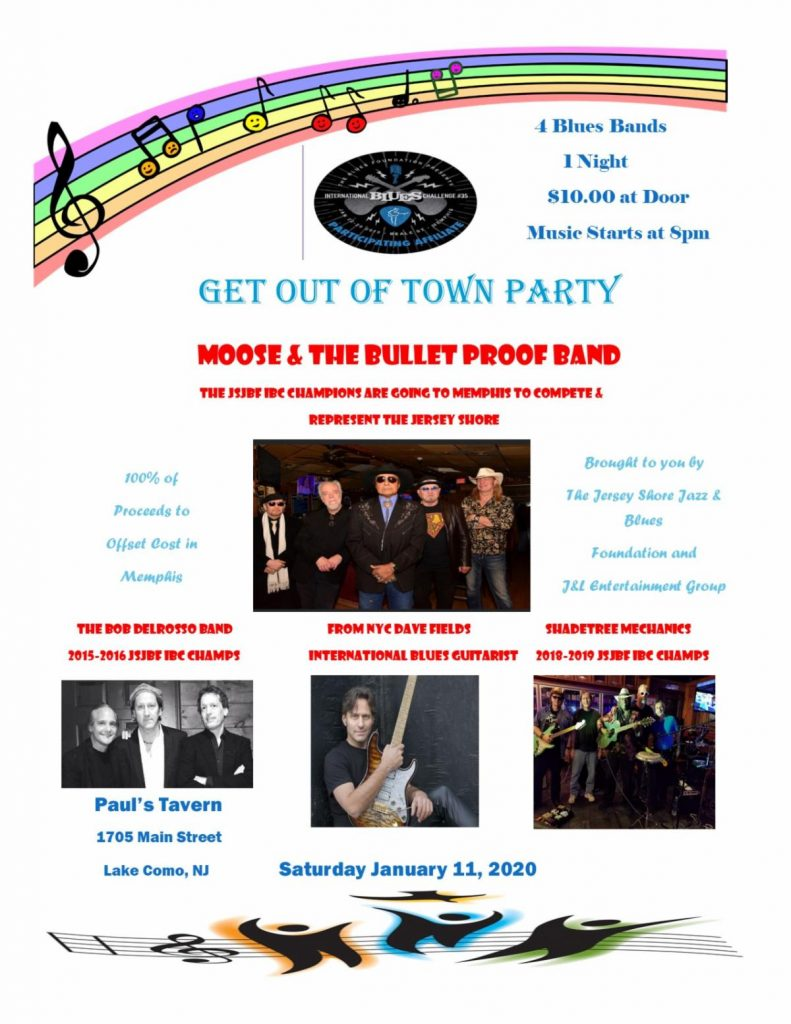 Get out of town Party for Moose and the Bullet Proof Band