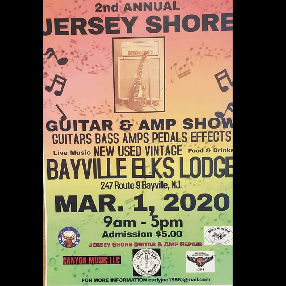 Jersey Shore Guitar and Amp Show